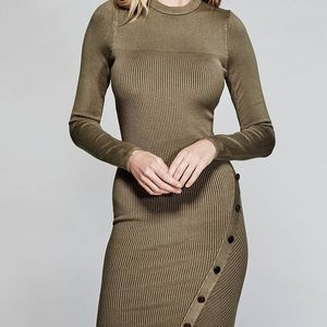 Dress color is Clay Gray